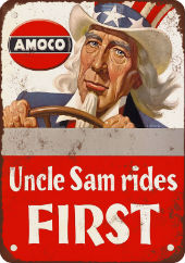 Amoco Gasoline Uncle Sam Rides First